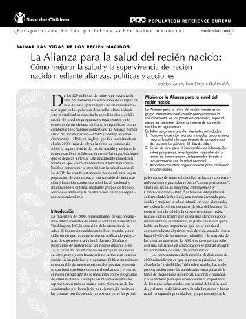 La Alianza para la salud del recién nacido: - BVSDE Desarrollo ...