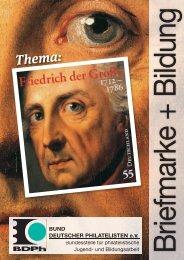 Friedrich der Große - Bund deutscher Philatelisten eV