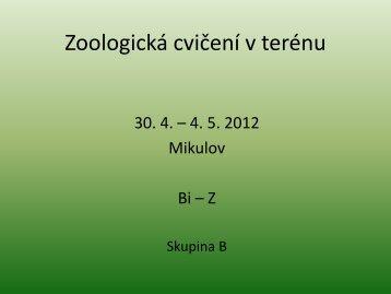 Zoologická cvičení v terénu