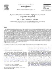 Bayesian mixed models and the phylogeny of pitvipers - David Pollock