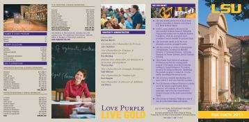 LSU Fall Facts 2011 - Office of Budget and Planning