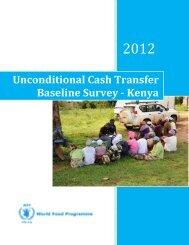 Unconditional Cash Transfer Baseline Survey - WFP Remote ...