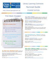 Student Survival Guide - George Brown College Library Learning ...