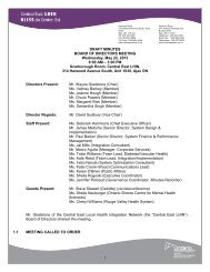 Meeting Minutes - May 22, 2013 - Central East Local Health ...