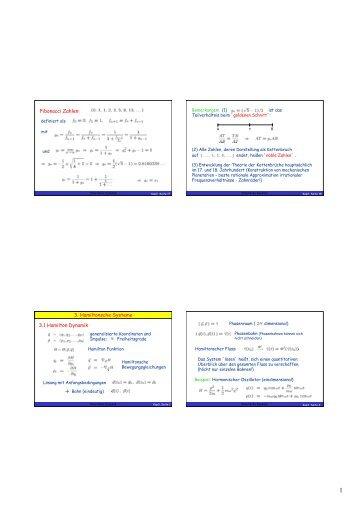 Kap.3 Hamiltonsche Systeme