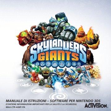 skylanders giants manuale 3ds