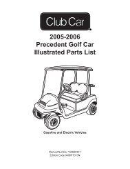 1984 1985 Ds Golf Car Illustrated Parts List Bennett Golf Cars