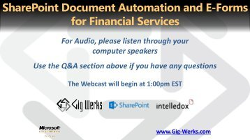 SharePoint Document Automation and E-Forms for ... - Gig Werks