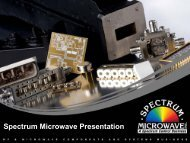 Microwave Components & Systems Business | SpectrumMicrowave