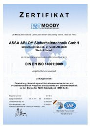 DIN EN ISO 14001:2009 - Assa Abloy