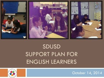 Support Plan for English Learners Presentation, 10-14-14