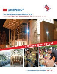 FY 2013 - FY 2018 Capital Improvements Plan - Office of the Chief ...