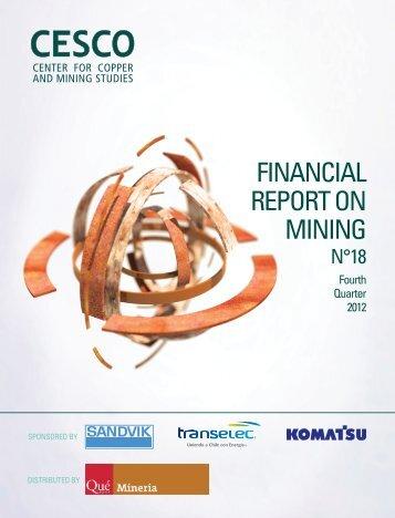 financial report on mining - Centro de Estudios del Cobre y la Minería