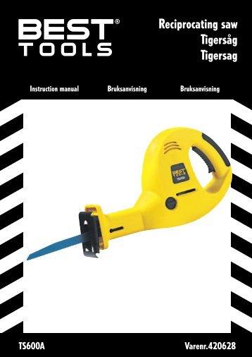 Reciprocating saw Tigersåg Tigersag