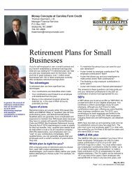 Retirement Plans for Small Businesses - Carolina Farm Credit