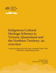 Indigenous Cultural Heritage Schemes in Victoria, Queensland and ...