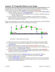 Lesson 18: Projectile Motion at an Angle