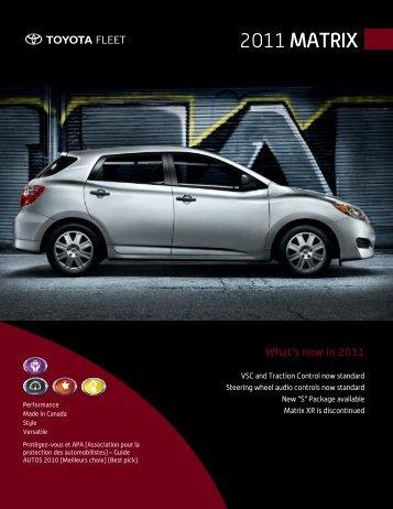 2011 Matrix - Toyota Canada