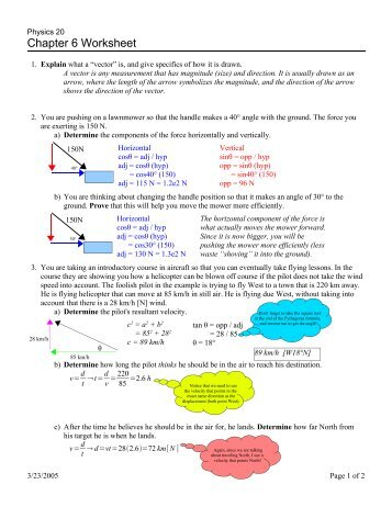 Chapter 6 - Lecture Worksheet 1 - Answers A. A sample of solid ...