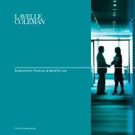 to view our Employment Law Brochure - Lavelle Coleman