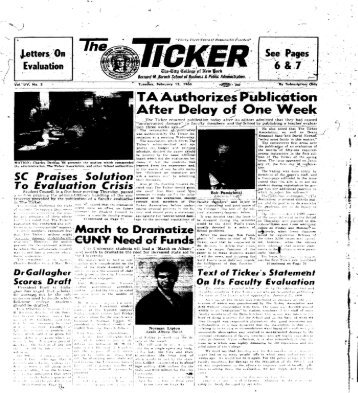 The Ticker - CUNY