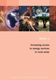 Increasing access to energy services in rural areas - REEEP ...