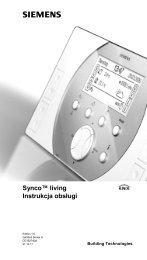 Synco™ living Instrukcja obsługi