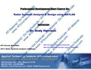 Radar Systems Analysis and Design Using MATLAB - Applied ...