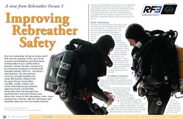 A view from Rebreather Forum 3 - X-Ray Magazine