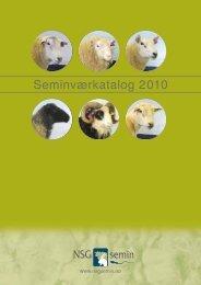 Seminværkatalog 2010 - NSG Semin - Norsk Sau og Geit
