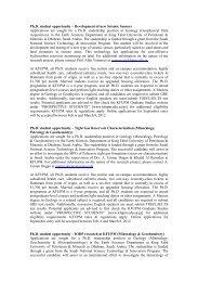 Ph.D. student opportunity – Development of new Seismic ... - KFUPM