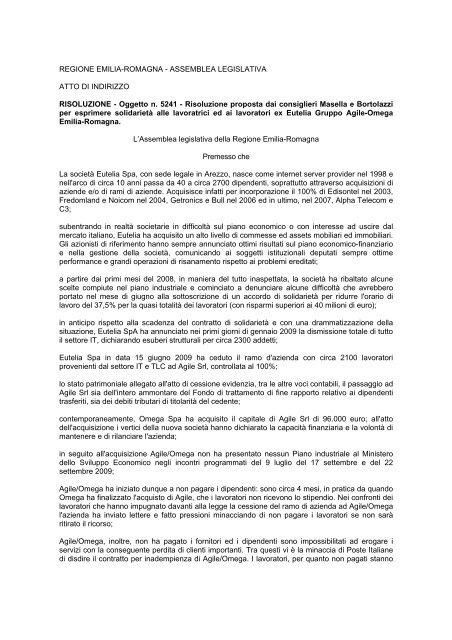Oggetto n. 5241 - Bollettino Ufficiale della Regione Emilia-Romagna