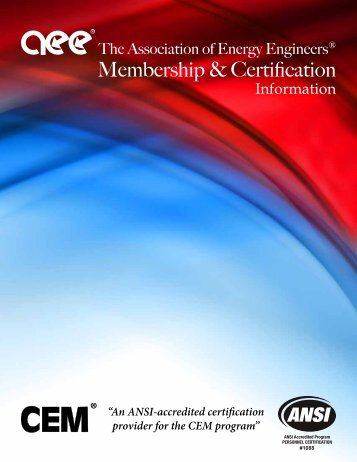 Membership Information - Association of Energy Engineers