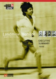 1999 - Executive Summary - Landmine and Cluster Munition Monitor