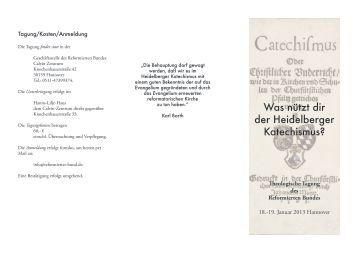 Weitere Informationen - Heidelberger Katechismus