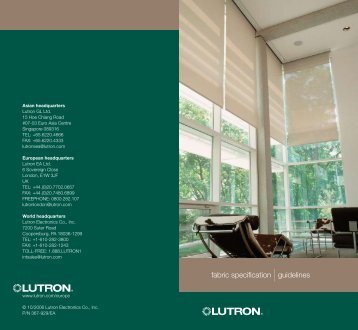 fabric specification |guidelines - Lutron