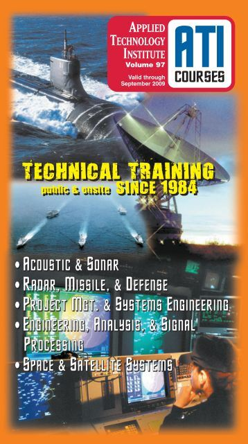 ATI Acoustic, Noise & Sonar Engineering Technical Training Courses