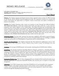 Virginia Aquarium Fact Sheet - Virginia Beach Pressroom