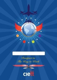 Passport to The Way to Work - Ciett