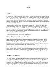 CS 174 A Fable The Prisoner's Dilemma