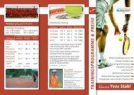 trainingsprogramme & preise - Paderborner Tennis-Club Blau-Rot ev