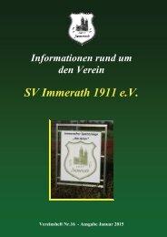Heft 16 SV Immerath