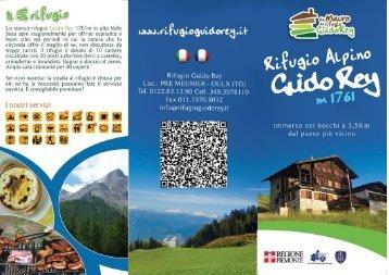 pieghevole rifugio Guido Rey - Valle di Susa. Tesori di Arte e ...