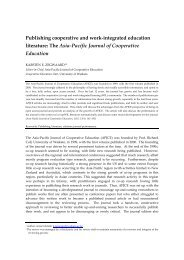 Publishing cooperative and work-integrated education literature ...