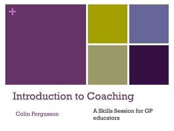Coaching skills for educators - Oxford Deanery