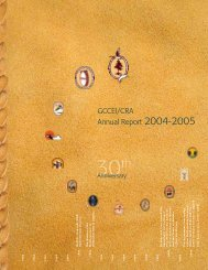 GCCEI/CRA Annual Report 2004-2005 (30th Anniversary)