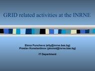 INRNE GRID activities - BEO