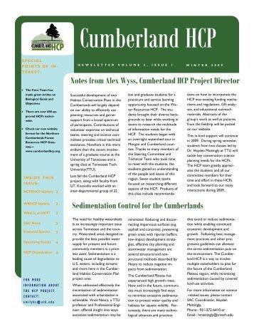 newsletter winter issue fina 2-11-09 - Cumberland HCP