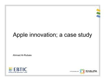 Apple innovation; a case study