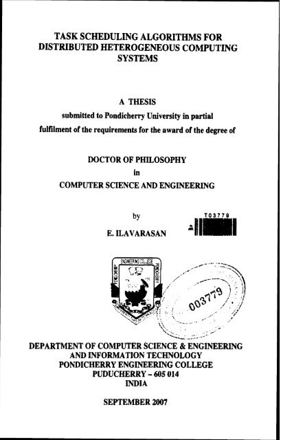 0 Pondicherry University Dspace Portal